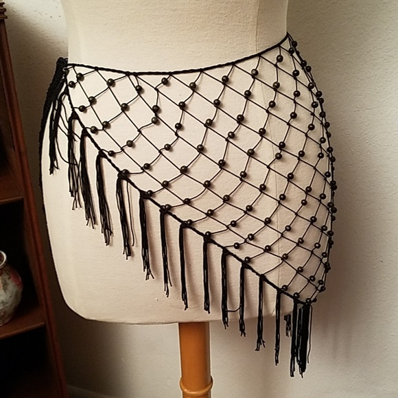 Accessories Boho Crochet Beaded Hip Scarfbelt Poshmark